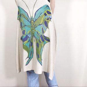NWT Sparrow Sleeveless Butterfly Cardigan